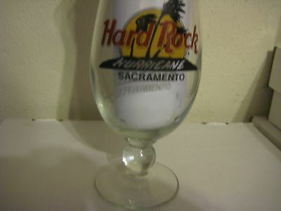 Hard Rock Cafe Sacramento Rare Collectible Hurricane glass Closed used
