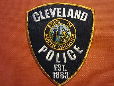 Collectible North Carolina Police Patch Cleveland New