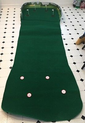 "Green Eagle Golf 4 Hole Putting Green Game 8'6"" Long"