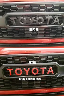Toyota Tacoma TRD PRO Grill Emblem Decal 2016 2017  ONLY