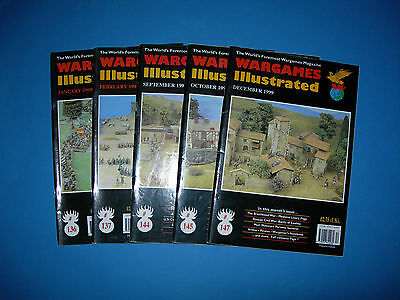 Multi-listing Wargames Illustrated Magazine 1999 - Issues 136 to 145