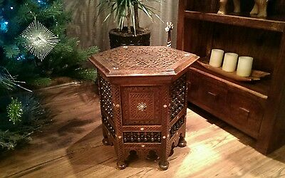 Antique carved wood table