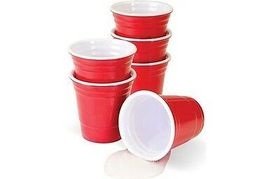Mini Red Cups 2oz Party Size - Shot Glass, Jello Shooters  100 - 400 Stck.