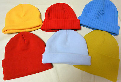 Beanie Unisex Mens Womens Yellow Red Blue 'Woolie' Hat Cap