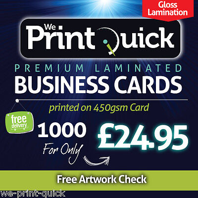 1000 Business Cards with Gloss Lamination - Double Sided