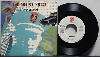 THE ART OF NOISE Dragnet--Acton Art RARE EXC 1987 1s PRESS CHINA LABEL 45 ost ps