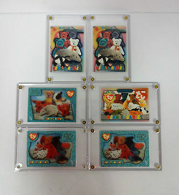TY Beanie Baby Club Collectors Cards Dated 1994-1996 Lot of 6 Issued Cards