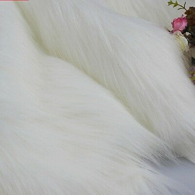 Home Long Haired Pile Faux Fur Fabric Plush Jewelry Display Photo Props Furry