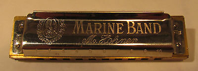 Marine Band Harmonica made by M. Hohner #1896 Key of F#