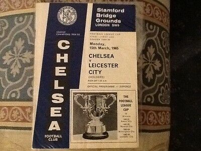 Chelsea v Leicester City League Cup Final first leg 1965