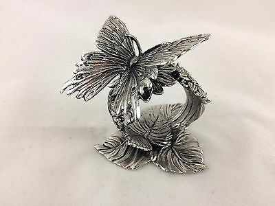 Reed & Barton Silverplate 1824 collection Figural Butterfly napkin Ring holder