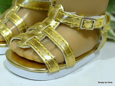 """COPPER Strappy DOLL SANDALS SHOES fits 18/"""" AMERICAN GIRL Doll Clothes"""