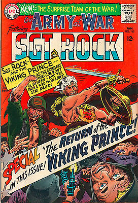 Our Army At War #162 - Sgt Rock & Viking Prince - (Grade 7.5) 1966
