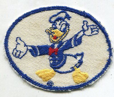 Original WWII Donald Duck Disney Patch WHITE