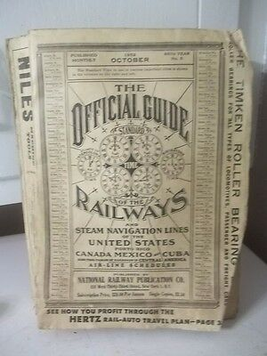 Vintage 1952 Official Guide To The Railways Catalog Estate Find