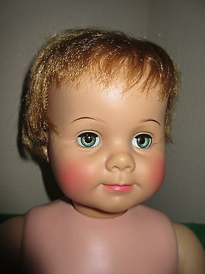 """Vintage 1960's  32"""" Saucy Walker by Ideal Toy Corp w Two Outfits"""