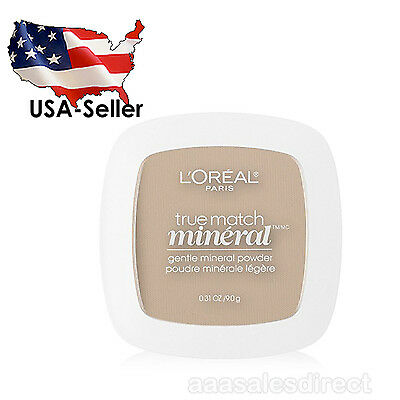 L'Oreal Paris True Match Mineral Pressed Powder, Soft Ivory