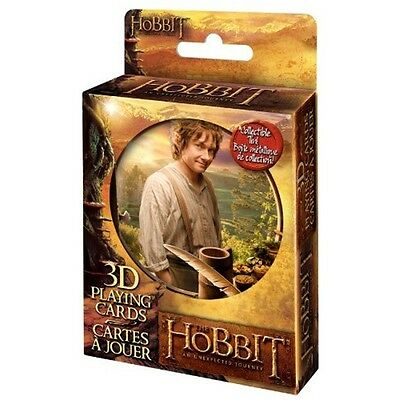 Case of 12 The Hobbit 3D Playing Cards in Embossed Tin Limited Edition