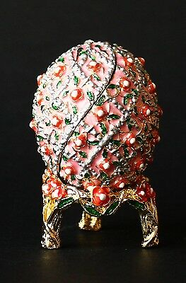 St Petersburg Russian Faberge Egg: Flower Bed, 2.4""