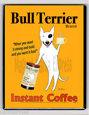 METAL MAGNET Bull Terrier Dog Instant Coffee Food Dogs MAGNET X