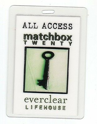 MATCHBOX 20 everclear Lifehouse Laminated Backstage Pass ALL ACCESS PERRI