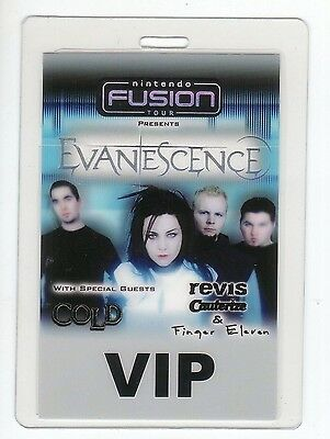 EVANESCENCE Laminated Backstage Pass COLD finger eleven VIP revis