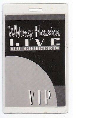 WHITNEY HOUSTON Laminated Backstage Pass VIP collectible