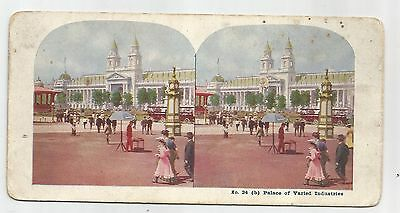 1904 St Louis World's Fair, Palace Of Varied Industries Stereoview