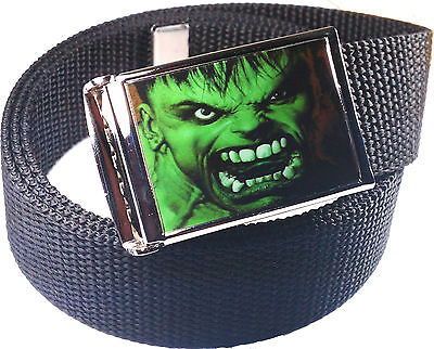 Hulk Belt Buckle Bottle Opener Adjustable Web Belt