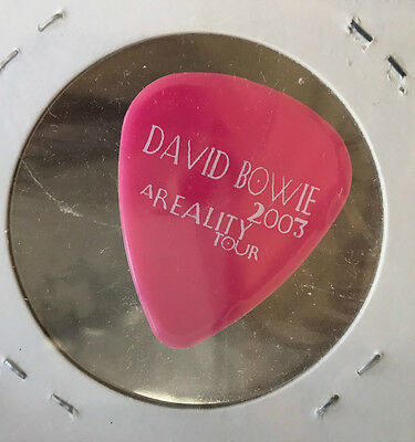 David Bowie Stage Used Guitar Pick Reality Melbourne Australia 2004 RARE