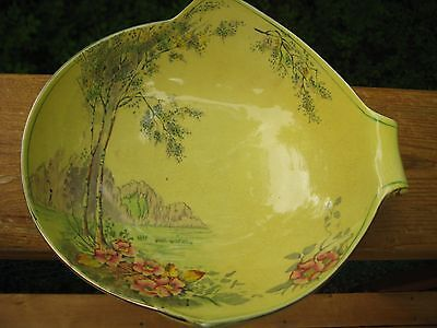 Unusual Royal Winton Bowl Sunshine Pattern 4070  Unmarked Art Deco