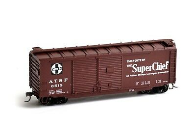 Athearn ATH14725 HO Scale RTR 40' Double Door Box SF #6513 Rolling Stock