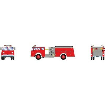 Athearn ATH92015 HO Scale RTR Ford C Fire Truck Red / White Vehicle