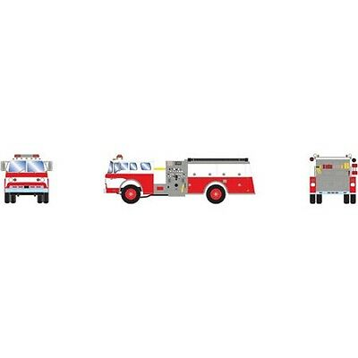 Athearn ATH92017 HO Scale RTR Ford C Fire Truck Red & White Vehicle