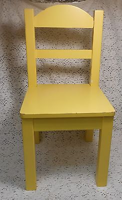 Yellow Painted Wood Wooden Chair - Ideal for Children, Plants, Dolls, Bears...