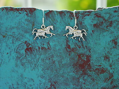 Mare and Foal Horse Earrings Sterling Silver,Equestrian Gifts,Horse Jewelry
