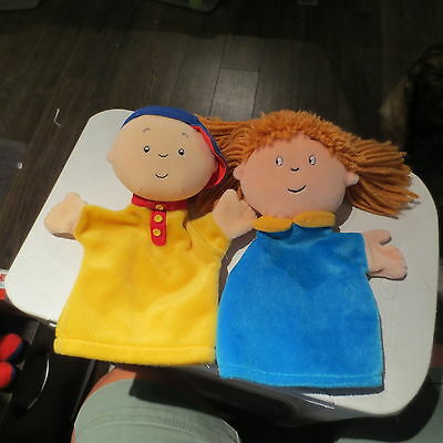 Vintage Puppet Dolls Caillou & Rosie Sister Cinar