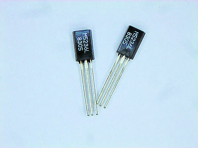 "M5236L  ""Original"" Mitsubishi  3P TO-92L  IC  2 pcs"