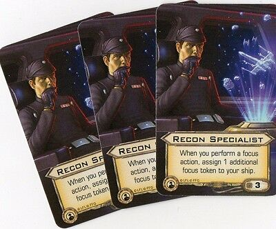 Recon Specialist x3 Promo Card - Star Wars X-Wing Miniature Game