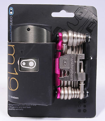 Crank Brothers M19 Bicycle Multi-Tool and Flask M-19 Pink/Black