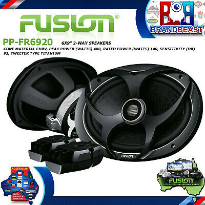 """Fusion Pp-fr6920 Performance Series 6x9"""" 2-way Full Range Speakers Car Coaxial"""