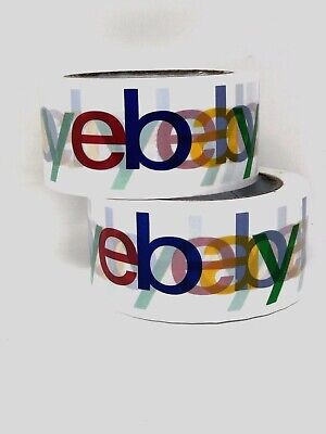 3 Rolls X 75 Yard eBay Branded BOPP Packaging Tape Box Packing Shipping Supplies