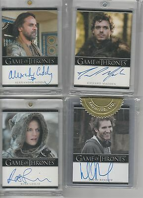 Game Of Thrones Season 2 Auto 3 Case Incentive David Benioff Bordered Autograph