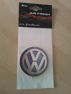 VW Car Air Freshener Double Sided