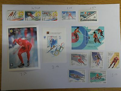 Lillehammer Winter Olympic Games 1994 MNH Collection