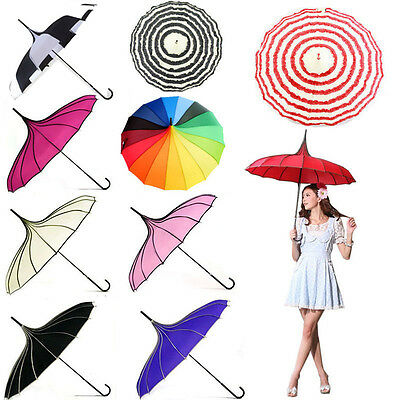 Pagoda Parasol Vintage Bridal Wedding Party Sun UV Rain Umbrella