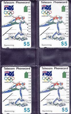 *PHONECARDS.USED.BARCELONA OLYMPICS.SET of EIGHTEEN.Includes all the reprints.*