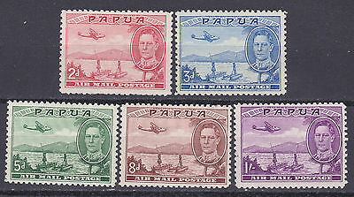 Papua 1939  Air  part set of 5  mint hinged