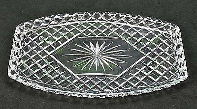 Genuine Lead Crystal Platter Plate Drink Glass Serving Tray FANTASTIC CONDITION