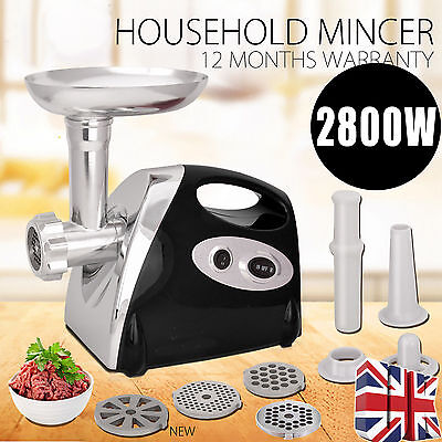 2800W Electric Mincer & Sausage Grind Filler Meat Grinder In Black 2017